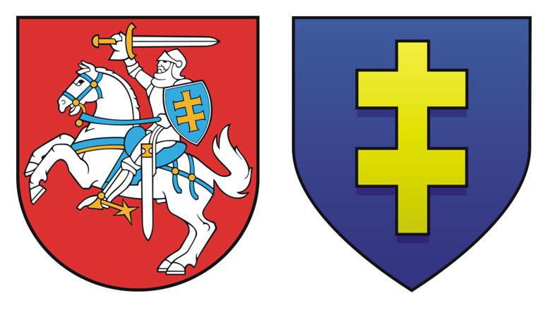 Kleban.sk - Obr. Štátny znak Litvy a erb Jagelovcov